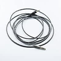 NewFantasia Replacement cable for Bowers & Wilkins P5 / P5 S2 Wireless / Recertified headphone Silver Plated Copper Audio upgrade cord 1.8m/5.9ft
