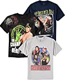 WWE Boys' Short-Sleeve T-Shirt 3-Pack (Black/Grey/Navy, Medium (10/12))