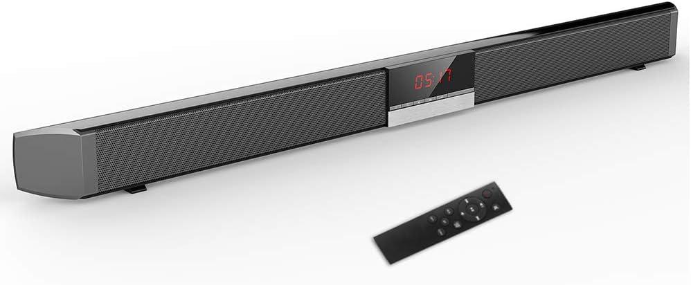 YTBLF Altavoz inalámbrico Bluetooth Smart Home Theater Speaker para TV, Altavoces de Audio inalámbricos con Cable (Control Remoto, Soporte para Fibra/AUX/coaxial/USB/BT): Amazon.es: Hogar