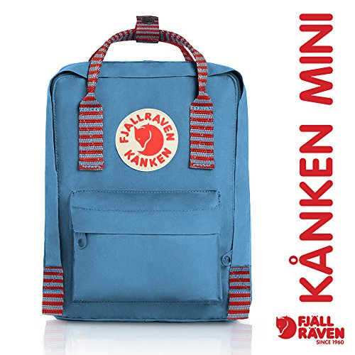 Fjallraven - Kanken-Mini Classic Pack, Heritage and Responsibility Since 1960, Air Blue-Striped - Satchel Style Case