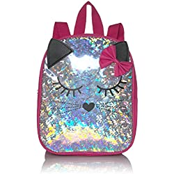 Stella & Max Girls' Little Fun Toyetic Animal Critter Cute Kids Mini Backpack, Cat, One Size