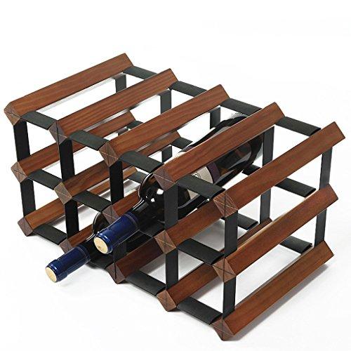 Aplicación de Decoración de Pared 6 Botella de Vino Rack-Madera Maciza de Múltiples Funciones Suelo Vino Estante cubilete...