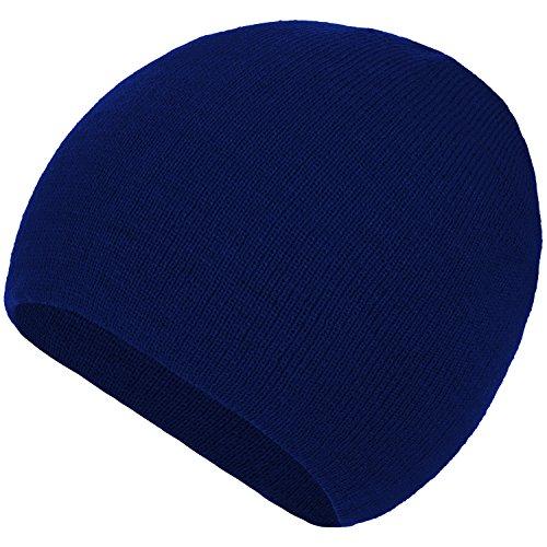 Woman Beanie Pursed Torsades colores Winter tejido Skullies azul o Lady piel 4sold marino Un For Wava con tama Varios Gorros 16FIw8q