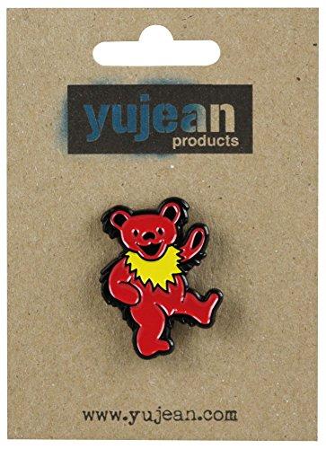 Grateful Dead Dancing Bear Enamel Hat Pin - Steel / (Bear Button)