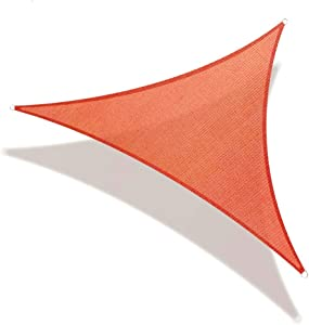 REPUBLICOOL Triangle 8'x8'x8' Red Sun Shade Sail UV Block Awning Cover for Patio Garden Outdoor Backyard