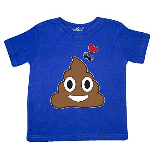 inktastic - Valentine's Day Love Poop Emoji Toddler T-Shirt 5/6 Royal Blue 28b05