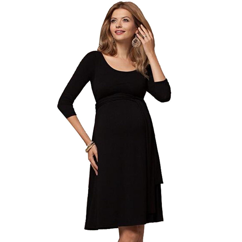Binhee Damen Nahtlose Still Schwangerschaft Kleider: Amazon.de ...
