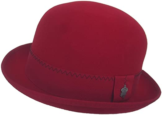 4934a3d66 Christys Crown Mister Red Wool Felt Bowler Hat at Amazon Men's ...