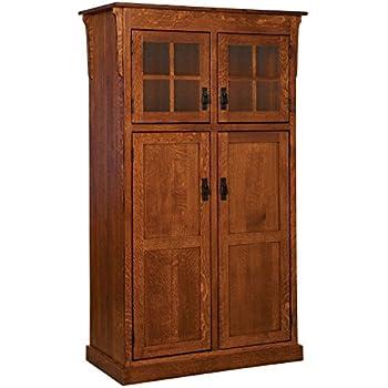 Amazon.com: Kitchen Pantry Solid Wood Storage Cabinet ...