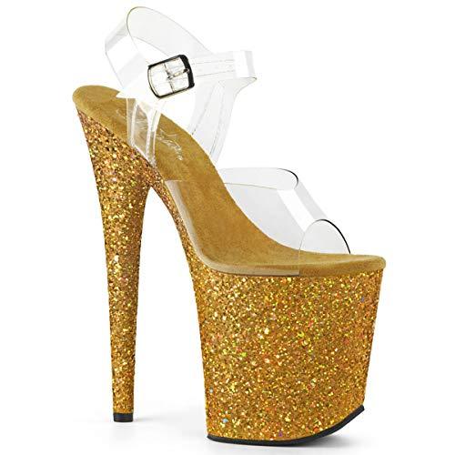 Glitter Bout Ouvert Flamingo Pleaser Clr Multi gold Femme 808lg wqax81g