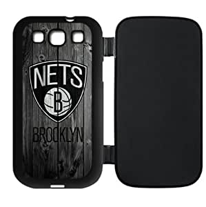 Brooklyn Nets Team Logo Background Design for Samsung Galaxy SIII i9300 Flip Case-by Allthingsbasketball