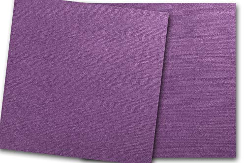 Premium DCS Canvas Textured Plum Purple Card Stock 20 Sheets - Matches Martha Stewart Plum - Great for Scrapbooking, Crafts, DIY Projects, Etc. (12 x 12) ()