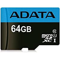 ADATA Premier 64GB microSDHC/SDXC UHS-I Class 10 Memory Card with Adapter Read up to 85 MB/s (AUSDX64GUICL10 85-RA1)