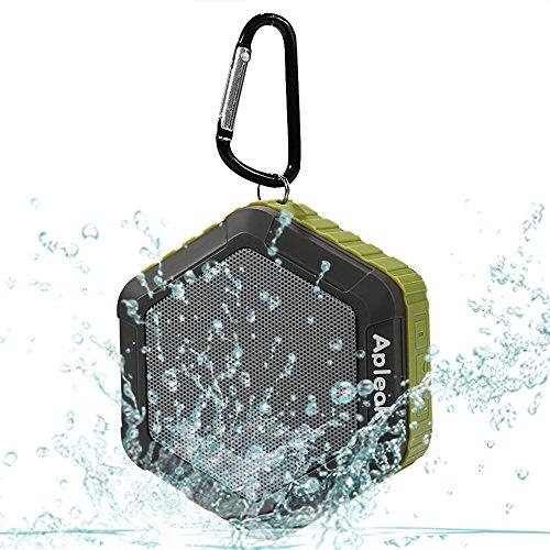 Apleok Portable Bluetooth Speaker, Waterproof Bluetooth 4.0 Speaker with IPX5 Waterproof Function and 12 Hours Playtime (Army Green) (Mini Bluetooth Pepper Speaker)