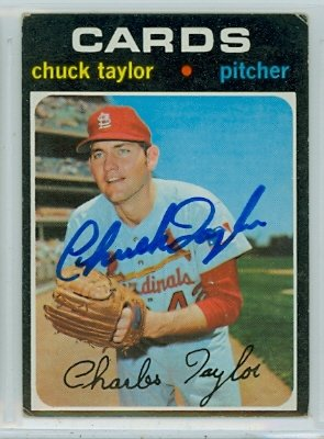 e033c52fb47 Chuck Taylor AUTOGRAPH 1971 Topps  606 St. Louis Cardinals at ...