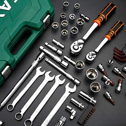 ZJN-JN Spanners Wrenches 46Pcs Professional Spanner Socket Set 1/4inch Screwdriver Ratchet Wrench Set Kit Car Repair Tools Hand Tools