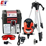 Kaitian Self Leveling Alignment Laser with Tripod and Receiver Detector Combo Set