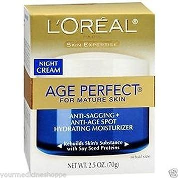 Loreal Age Perfect Night Cream 2.5 Ounce Jar 73ml 3 Pack