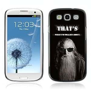Designer Depo Hard Protection Case for Samsung Galaxy S3 / Gandalf Message