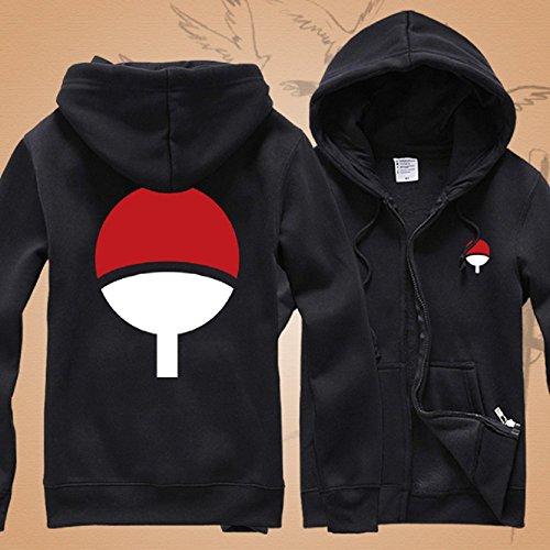 GK-O Naruto Uchiha Sasuke Hoodie Jacket Pullover Coat Sweatshirt Unisex (Large) by GK-O (Image #1)