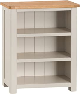outlet store 0b508 49a6e Farrow Grey Painted Low Bookcase - Small Bookshelf: Amazon ...