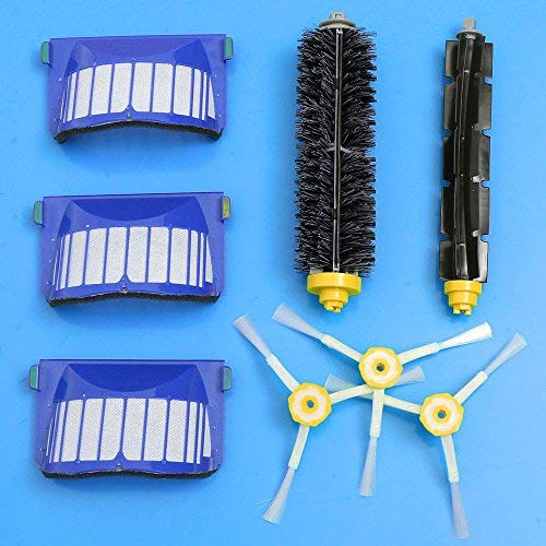 WALLER PAA 3-Armed Brush Filter Kit For iRobot Roomba Aerovac 550 585 595 620 630 650 655