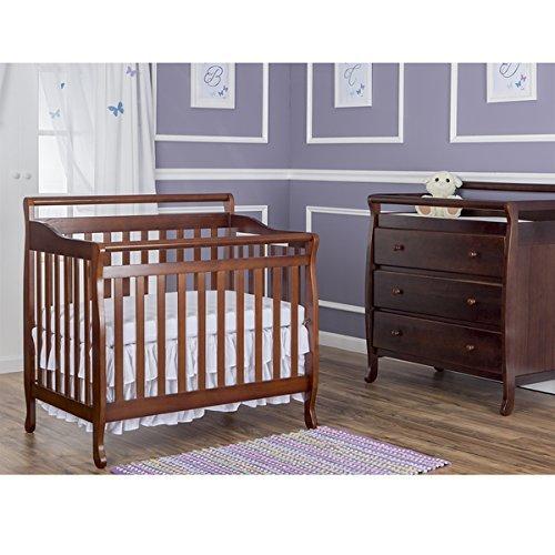 Emily 4in 1 Crib (Dream on Me 4-in-1 Mini Convertible Crib, Wood Espresso Finish,)