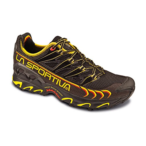 La Sportiva Ultra Raptor Trail Running Shoes UK 12 Black Yellow For Sale