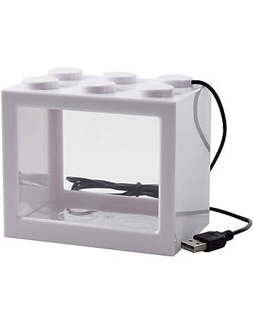OMEM USB Mini Fish Tank, Micro Tanque de Escritorio LED Fish Tank, Kit de