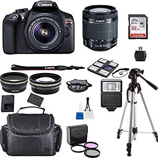Canon EOS Rebel T6 Kit with EF-S 18-55mm f/3.5-5.6 is II Lens + Accessory Bundle + Model Electronics Cloth