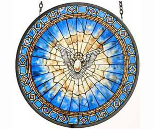 Holy Spirit Roundel from MI Hummel/Glassmasters by Fenton
