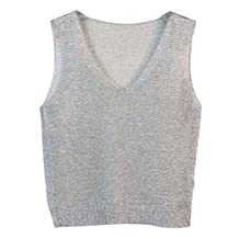 Summer Lady's Vest/Sexy Hollow Out Series V-Neck Tank Tops/Silver