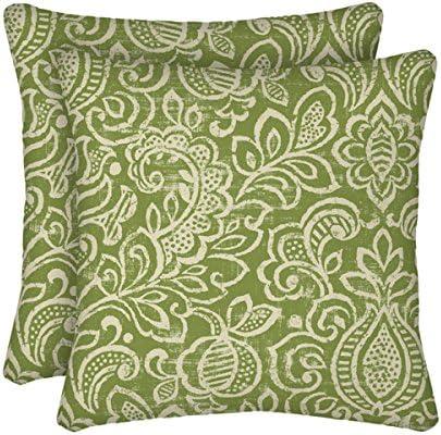 Comfort Classics Inc. Set of 2 Indoor/Outdoor Throw Pillow 16″ x 16″ x 4″