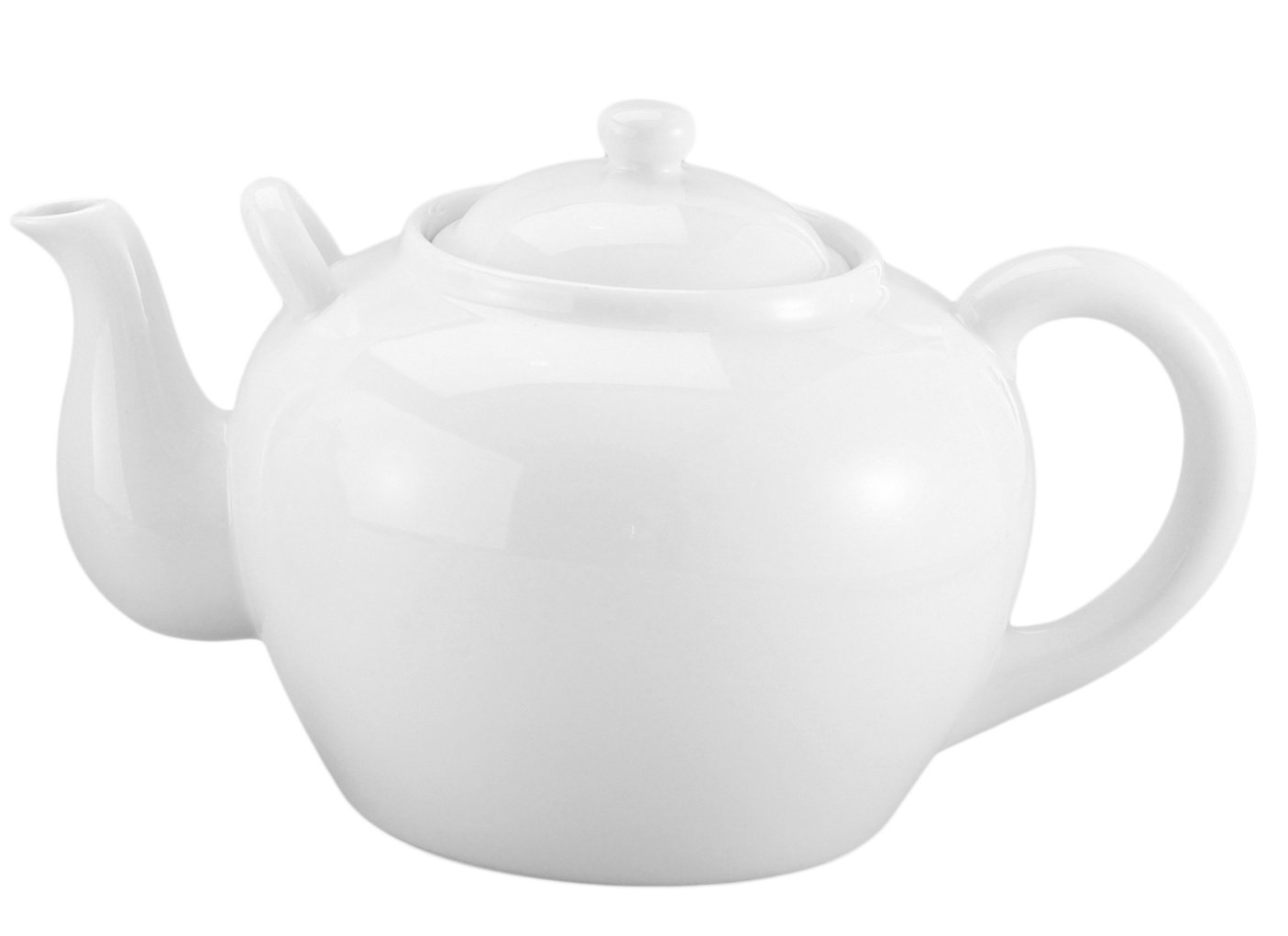 HIC Brands that Cook 71/372-3W White Porcelain Teapot w/ Infuser - 16 ounce