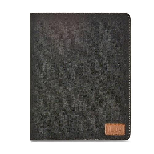 iLuv Great Jeans Portfolio Case with Enhanced Viewing Angles for the Apple iPad 4,  iPad 3rd Generation and iPad 2 (iCC834BLK)