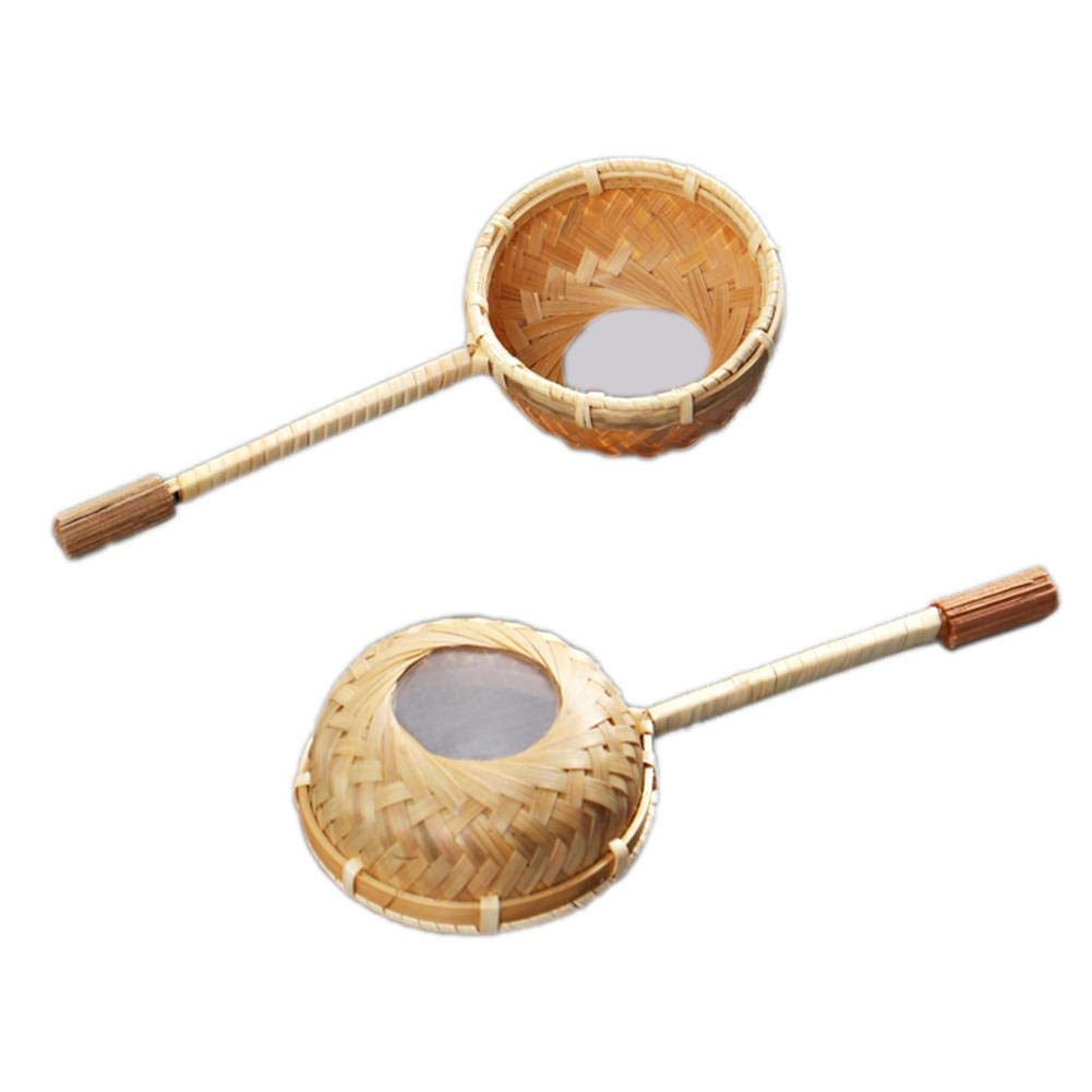 Tee Bambus Filter Teezeremonie Japanischen Stil Tee Filter Teesieb Bambus Filter L/öffel Tee Filter