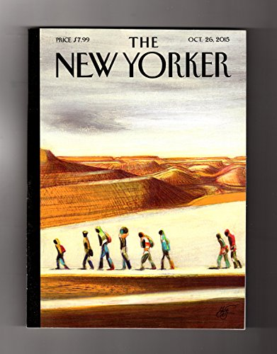 The New Yorker-Oct 26, 2015.Lorenzo Mattotti Cover,'On the Way'.Lesley Nneka Arimah Fiction,'Who Will Greet You At Home';Jeb Bush;Math Anxiety;Svetlana Alexievich;Syrian Refugee Odyssey;Ivo van Hove