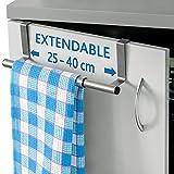 ArtMoon Spread Extendable Towel Bar Over Door 9''-15'' Stainless Steel