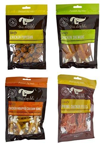 Petface Dog Deli Chicken Treats - Calcium Bones, Popcorn,...