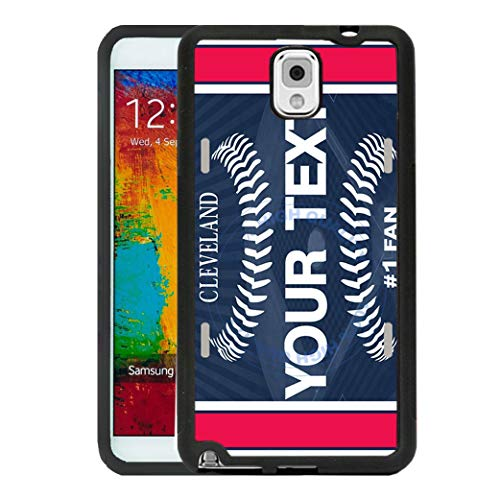 Cleveland Indians Case - BRGiftShop Customize Your Own Baseball Team Cleveland Rubber Phone Case for Samsung Galaxy J3 2018