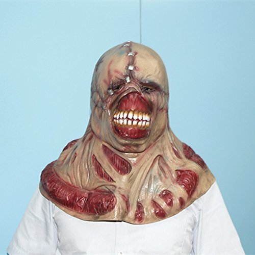 HOMEE Halloween Ghost Houses an Atmosphere of Terror and Decorated Caps Props Emulation Biochemical Coliform Zombie Masks, Fleshy Kwan,The popular public enemy.