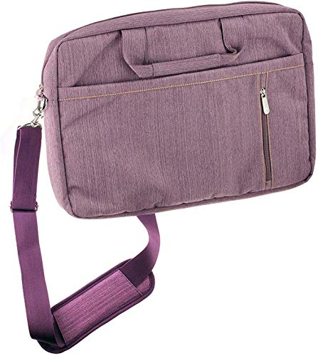 Navitech Purple Premium Messenger/Carry Bag Compatible with The MSI GL63 8SC-059 15.6
