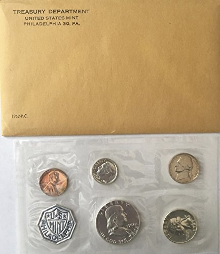 Mint Set Envelope - 1962 P US Silver Proof Set Comes in Envelope from the US Mint Proof