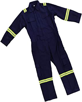 Blue FLAMEER Blue Men Women Coveralls Anti-Static Workwear Mechanic Jumpsuit Protective M