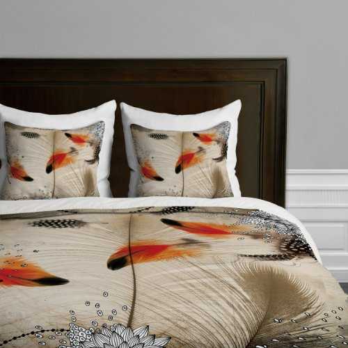 Deny Designs Iveta Abolina Feather Dance Duvet Cover, Queen by Deny Designs