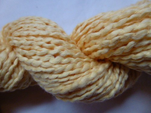 (Yellow Soft Cotton Poly Blend Heavy Worsted Weight Yarn)