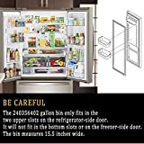 2 x 240356402 Refrigerator Upper Door Shelf Clear