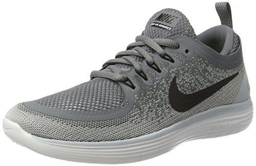 NIKE Women's Free RN Distance 2 Running Shoe, Cool Grey/Black-Wolf Grey-Stealth, Size 9 (Nike Women Shox Shoes)