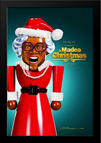 Tyler Perry's A Madea Christmas 28x36 Large Black Wood Framed Movie Poster Art - Galleria Tyler Of