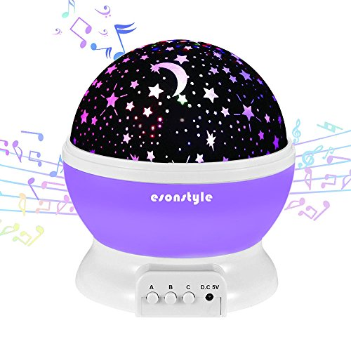Update Esonstyle Musical Night Light 360 Rotating Star Lamp Baby Musical Lamp With Rechargeable Battery 12 Songs To Relax For Sleep Kids Babies Birthday Children Day Christmas Gift